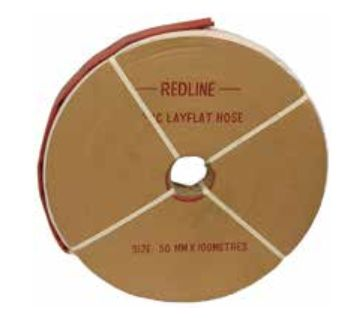 100mm Layflat Heavy Duty Red (WP 130psi) 100m coil