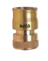 Hose Connector Brass 18mm Click-On