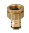 Universal Tap Adaptor Brass 18mm Click-On