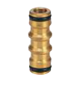 2 End Coupler Brass 12mm Click-On
