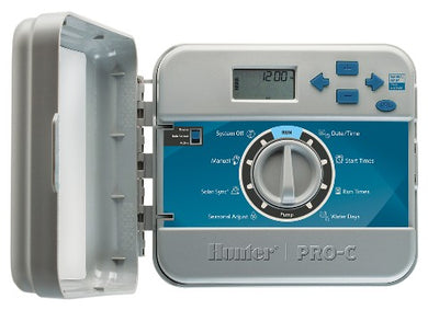 Hunter Pro C Outdoor Modular Controller 4 Stn, 3 Pgm, 4 Start Times, Built-In Transformer