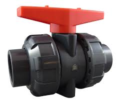 PVC Double Union Ball Valve BSP Threaded