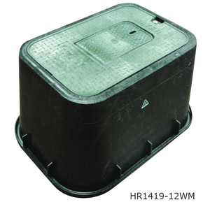 HR Domestic Water Meter Box 305mmW x 435mmL x 305mmD with Hatch