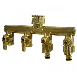 Metal 4 Way Manifold (20mm Screw-On)