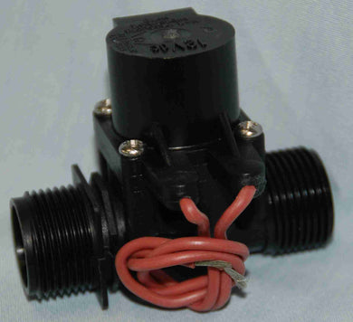 MV75 Micro Solenoid 12V DC 20mm Male x 20mm Male 38lpm Viton for Chemical Use.