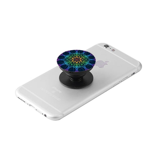 Blue Floral Collapsible Grip & Stand for Phones and Tablets