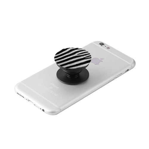 Zebra Print Collapsible Grip & Stand for Phones and Tablets