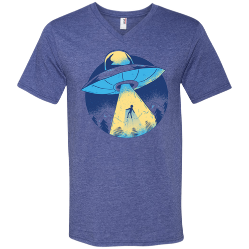 Alien Abduction Men's V-Neck - Tempting Tees Graphic T-shirts