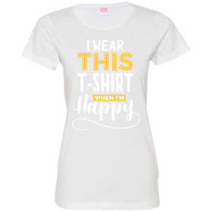 Happy Shirt Ladies T-Shirt - Tempting Tees Graphic T-shirts