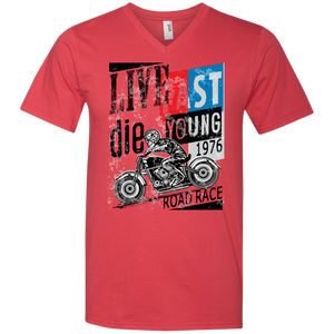 Live Fast Die Young Men's T-Shirt - Tempting Tees Graphic T-shirts