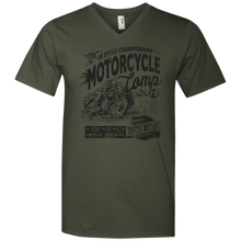 Motorcycle Camp Men's V-Neck T-Shirt - Tempting Tees Graphic T-shirts