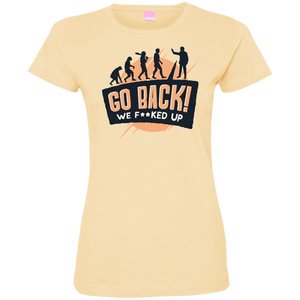 Go Back Ladies T-Shirt - Tempting Tees Graphic T-shirts