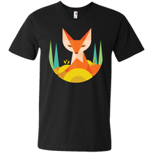 Graphic Fox Men's V-Neck T-Shirt - Tempting Tees Graphic T-shirts