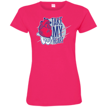 Take My Heart Ladies T-Shirt - Tempting Tees Graphic T-shirts