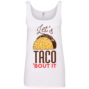 Let's Taco Bout It Ladies Tank Top