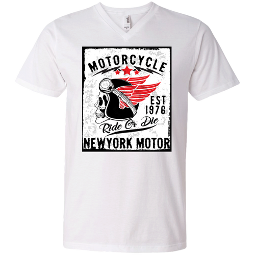 NY Motor Men's V-Neck - Tempting Tees Graphic T-shirts