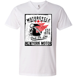 NY Motor Men's V-Neck