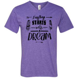 It Starts With A Dream Men's V-Neck