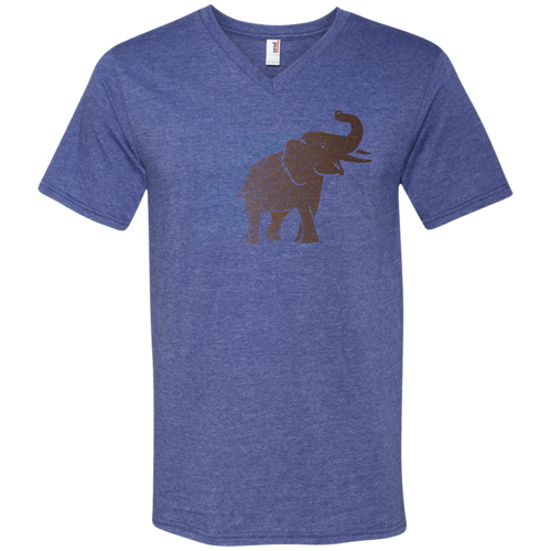 Elephant Men's V-Neck - Tempting Tees Graphic T-shirts