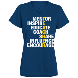 Teachers Inspire Ladies V-Neck - Tempting Tees Graphic T-shirts