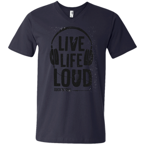 Live Life Loud Men's  V-Neck T-Shirt - Tempting Tees Graphic T-shirts