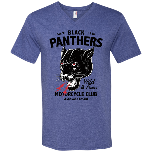 Panther Men's V-Neck - Tempting Tees Graphic T-shirts