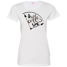 Coffee Time Ladies T-Shirt - Tempting Tees Graphic T-shirts