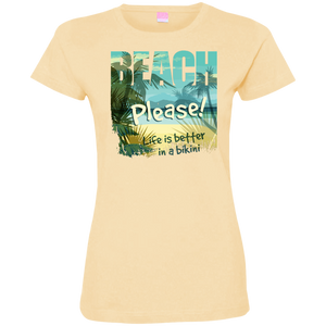 Beach Please Ladies T-Shirt - Tempting Tees Graphic T-shirts