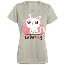 Caturday Ladies V-Neck - Tempting Tees Graphic T-shirts