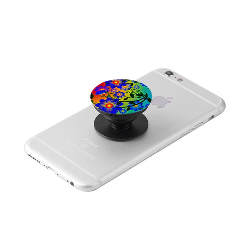 Floral Collapsible Grip & Stand for Phones and Tablets