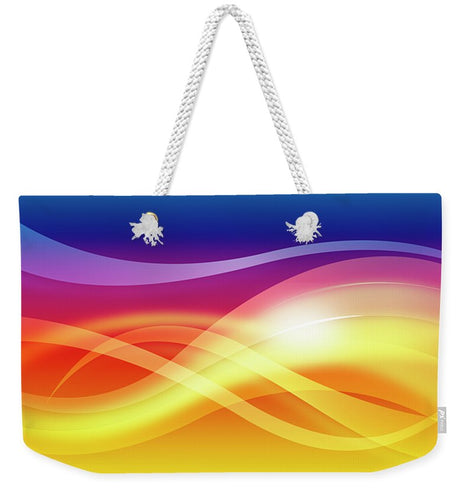 Abstract Waves - Weekender Tote Bag - Tempting Tees Graphic T-shirts