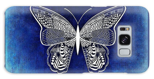 Blue And White Butterfly - Phone Case