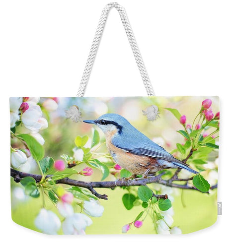 Blue Bird - Weekender Tote Bag - Tempting Tees Graphic T-shirts