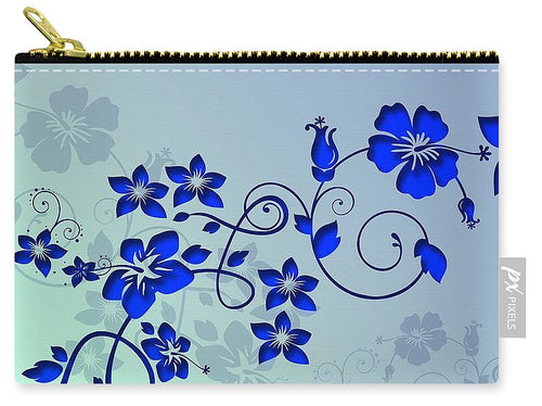 Blue Flower Love - Carry-All Pouch