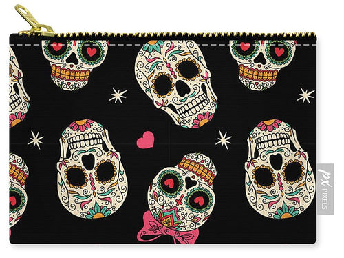 Day Of The Dead Bows - Carry-All Pouch