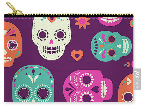 Day Of The Dead Pastel - Carry-All Pouch