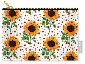 Field Of Sunflowers - Carry-All Pouch