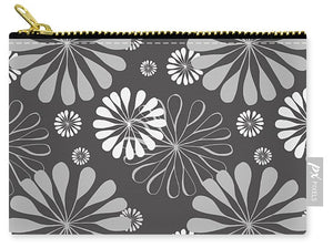 Grey Floral - Carry-All Pouch