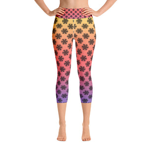 Snowflake Yoga Capri Leggings