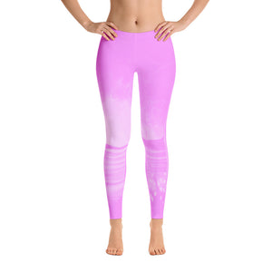 Pink Abstract Leggings