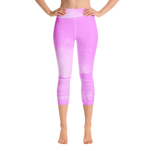 Pink Sunrise Yoga Capri Leggings
