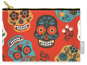 Orange Day Of The Dead - Carry-All Pouch