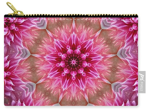 Pink Floral Circle - Carry-All Pouch