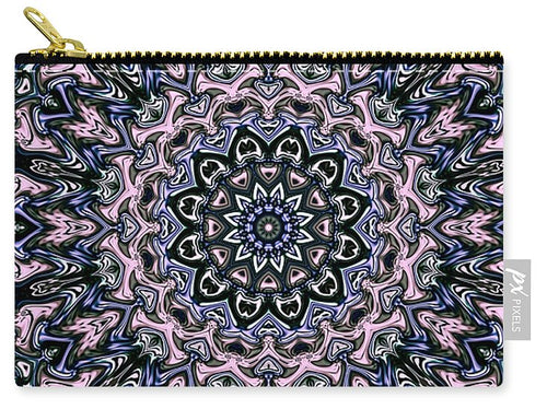 Pink Grey Mandala - Carry-All Pouch