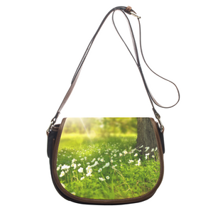Incredible Tiny Flowers- Leather Saddlebag
