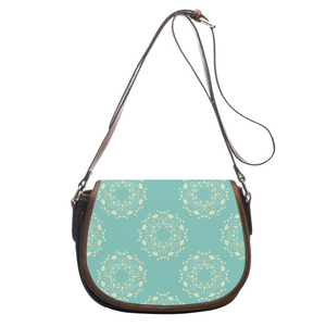 Lovely Flowers Leather Saddlebag