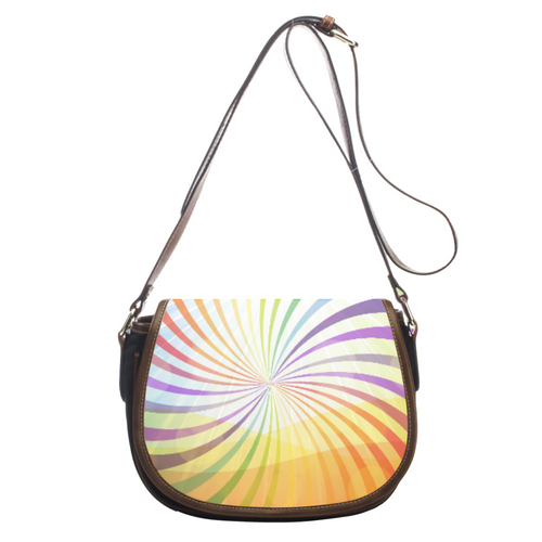 Lovely Rainbow Vortex Leather Saddlebag