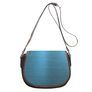 Outstanding Blue Metal Leather Saddlebag