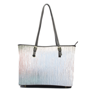 Frosted Leather Tote
