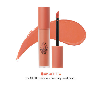3CE Soft Lip Lacquer - Peach Tea